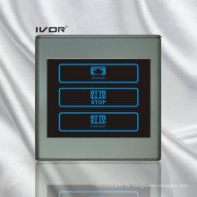 1 Gang Vorhang Schalter Kunststoff Umriss Rahmen (SK-CT2300AC1)