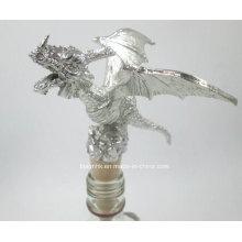 Metal Craft rolha de garrafa de vinho, Silver Wine Bottle Stopper