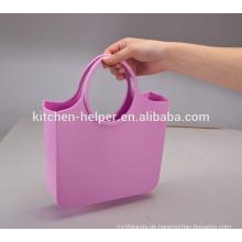 China-Berufshersteller-Qualitäts-Fabrik-Preis-Silikon-wasserdichte Gelee-Süßigkeit-Farben-Silikon-Dame Silikon-Einkaufstasche