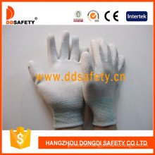 Nylon/Polyester Gloves PU Coating on Palm and Fingers (DPU219)