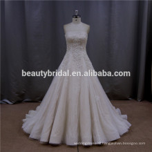 Chic floor-length drop waist line hot couture wedding dress