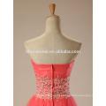 2017 Hochzeit Toast kurzes Abendkleid Wassermelone rote Farbe Spitze TUTU Rock Robe de Soiree Abendkleid