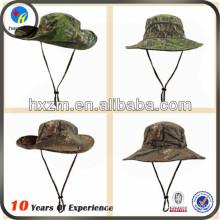 fishing custom camo bucket hat with string