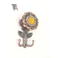 Crochet de rideau décoratif à motifs floraux (TF 1755)