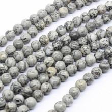 2015 Gets.com 6-8-10-12mm runde natürliche Bild Jaspis Perlen