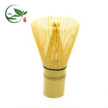 Fouet Matcha Japonais fait à la main 100 griffes bambou blanc