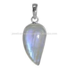 Piedra preciosa llamativa de la piedra lunar del arco iris y colgante precioso de la plata esterlina 925 al mejor precio