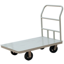 Multi-purpose 5-inch rubber wheel and nickel-plated handle handtruck/Hand push cart