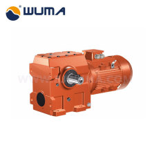 High efficiency helical worm geared motor gear reducer