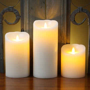 LED Moving Flame Wax Candle