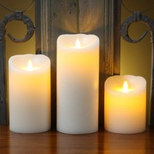 flickering flameless radiant liown moving flame candles for home decoration
