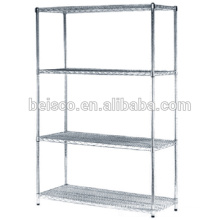 5 tiers stainless steel wire metal shelves for storage
