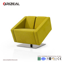 Orizeal Velvet Modern Green Office Lounge Sofa Chair (OZ-OSF015)