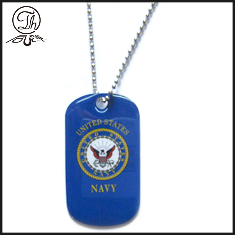US Navy Soldato dog tags collana