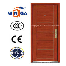 Ceeurop Market Security Steel MDF placage en bois porte blindée (W-A1)