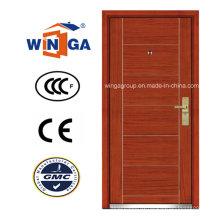 Ceeurop Market Security Steel MDF Wood Veneer Armored Door (W-A1)