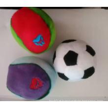 Tipos do cão do brinquedo do futebol da peluche, brinquedo do animal de estimação