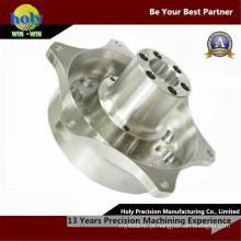 O alumínio do CNC do cubo 7075-T6 do OEM parte o torno do CNC que faz à máquina peças sobresselentes grandes do carro