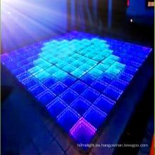 Innovador chino 3D espejo tiempo túnel LED Dance Floor