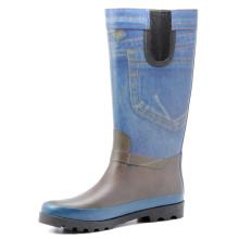Women Jeans Printing Rubber Rain Boots