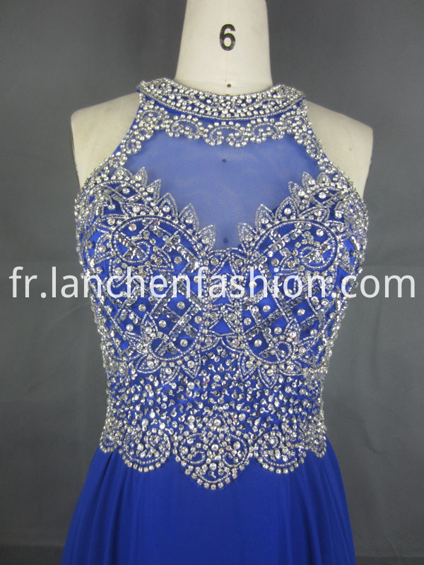 Lace Cocktail Dress Blue