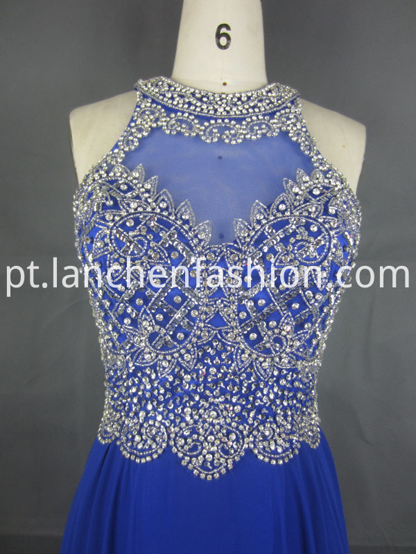 Lace Sexy Dress Blue