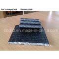 PVG PVC ignifuge solides tissées bande transporteuse