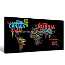 Modern Design Picture Print Map Impressão artística na tela com moldura esticada para decoração de casa