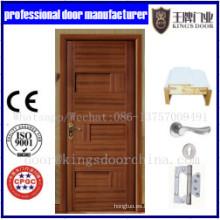 Puerta interior de madera sólida Combine la puerta