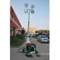 4 Spotlights Portable Led Light Tower with Compact Narrow Body (FZM-400B)