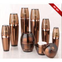Hot Sale Amber acrílico loção garrafas com jarros (EF-C02)