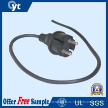 Enchufe del cable de corriente alterna del estándar europeo 220V 2 Pin