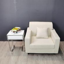 table de chevet claire et blanche