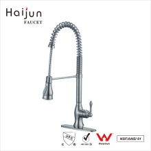 Haijun 2017 Brand Contemporary 0.1~1.6MPa Single Handle Pull Down Kitchen Faucets