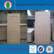 Madera contrachapada HDF de tamaño de puerta llana con alta calidad