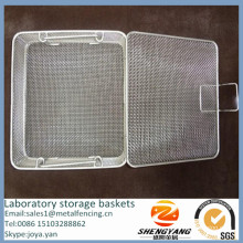 Wholesale disinfecting containers with lid micro mesh sterilization instrument trays stainless steel laboratory storage baskets