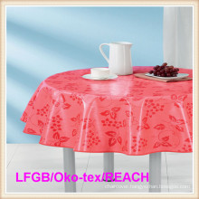 PEVA Printed Tablecloth/Table Cover Round Wholesale in Factory