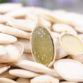 Diferentes tipos orgánicos de semillas de calabaza y granos verdes de calabaza