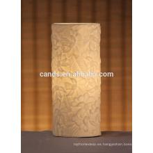 Lámpara de luz de mesa de decoración artesanal de cerámica