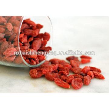 Mispel, Lycii-Frucht, Ningxia Goji-Beeren Wolfberry-Frucht-280 Größe Getrocknete Goji-Beeren Ernährungsfakten Getrocknete Goji Gesundheit Vorteile