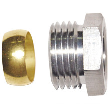 Brass Cap Fitting with Ring (a. 0341)