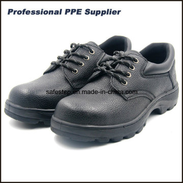 S1p Rubber Outsole Split Leather Safety Shoes with Low Price