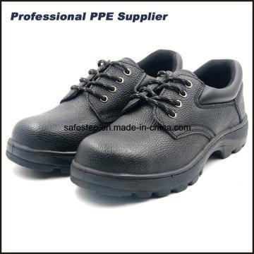 S1p Rubber Outsole Split couro sapatos de segurança com baixo preço