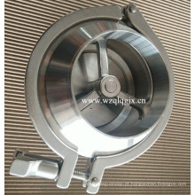 Válvula de retenção sanitária de aço inoxidável Nrv