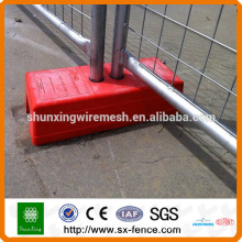 Temporary Movable Fence with concrete plastic feet