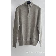 100% lã camisola do pulôver da malha para homens (no estoque)
