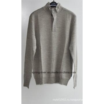 100% Шерстяной свитер с пуловером для мужчин (в наличии)
