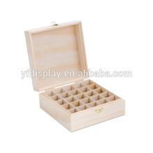 Boîte en huile essentielle en bois, mallette de transport d'huile essentielle, fabriquée en Chine, bois de luxe