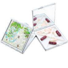 Caixa de comprimido pequena caixa de comprimido logotipo personalizado