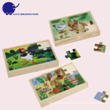 Kundenspezifische pädagogische Kinder hölzernes Dschungel-Tierpuzzlespiel
